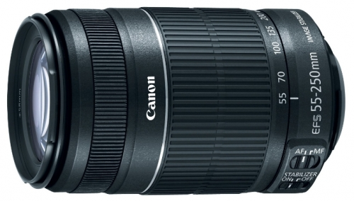 Недорогой телеобъектив со стабилизатором Canon EF-S 55-250mm f/4-5.6 IS STM